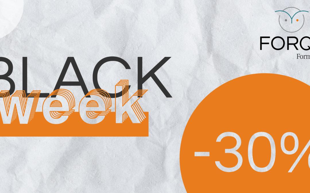 BLACK WEEK : -30% sur les formations dans notre centre de Dijon